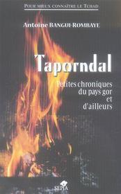 Taporndal ; petites chroniques du pays gor et d'ailleurs - Intérieur - Format classique