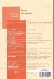 Rome des jubilés - 4ème de couverture - Format classique
