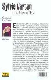 Sylvie Vartan, Une Fille De L'Est - 4ème de couverture - Format classique