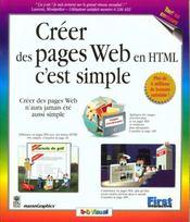 Creer Des Pages Web En Html, C'Est Simple - Intérieur - Format classique