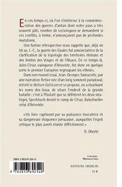 Jules Cesar A Pfastatt ; Carnets Secrets De La Guerre Des Gaules - 4ème de couverture - Format classique