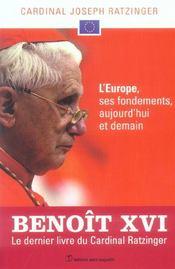 L'Europe, Ses Fondements, Aujourd'Hui Et Demain - Intérieur - Format classique