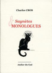 Saynetes et monologues - Couverture - Format classique