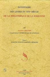 Inventaire Des Livres Du Xvieme - Couverture - Format classique