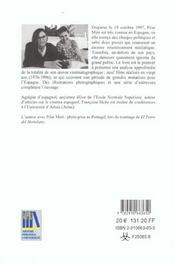 Picar Miro 20 Ans De Cinema Espagnol - 4ème de couverture - Format classique