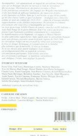 Revue Europe N.912 ; Les Surréalistes Belges - 4ème de couverture - Format classique