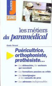 Les metiers t.222 ; paramedical - Intérieur - Format classique