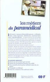 Les metiers t.222 ; paramedical - 4ème de couverture - Format classique
