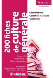 L'Indispensable De La Culture Generale ; Sciences Po, Concours Cat. A, Prepas Commerciales (2e Edition) - Couverture - Format classique