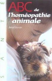 Abc de l'homéopathie animale - Intérieur - Format classique