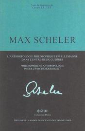 Max Scheler - Intérieur - Format classique