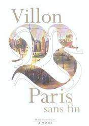 Villon, Paris sans fin - Intérieur - Format classique