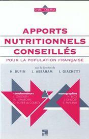 Apports Nutritionnels Conseilles - Intérieur - Format classique