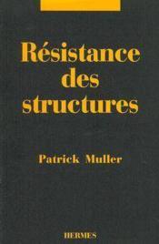 Resistance des structures - Couverture - Format classique