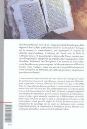 Les Manuscrits Du Touat - 4ème de couverture - Format classique