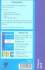 20 Dissertations - 4ème de couverture - Format classique