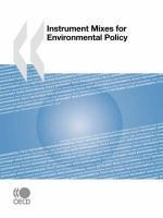 Instrument mixes for environmental policy - Couverture - Format classique