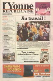 Yonne Republicaine (L') N°207 du 07/09/2001 - Couverture - Format classique