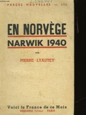 En Norvege Narwik 1940 - Couverture - Format classique