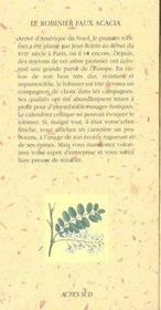 Le Robinier Faux Acacia - 4ème de couverture - Format classique