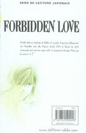 Forbidden love t.15 - 4ème de couverture - Format classique