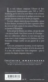 Histoire de Boris ; biographie d'un baiseur contemporain - 4ème de couverture - Format classique