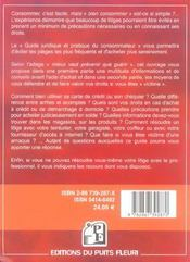 Guide Juridique Et Pratique Du Consommateur. Informations Etconseils Pour Mieux - 4ème de couverture - Format classique