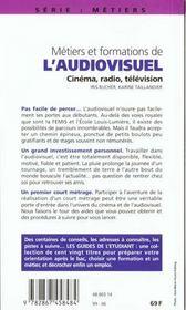 Les Metiers Et Formations De L'Audiovisuel - 4ème de couverture - Format classique
