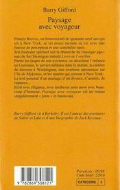 Paysage Avec Voyageur - 4ème de couverture - Format classique