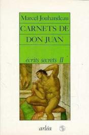 Carnets Don Juan - Couverture - Format classique