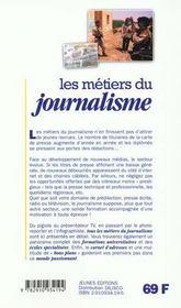 Metiers Du Journalisme (Les) - 4ème de couverture - Format classique