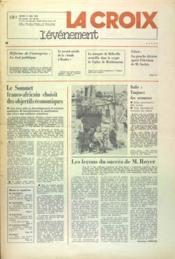 Croix L'Evenement (La) N°28370 du 11/05/1976 - Couverture - Format classique