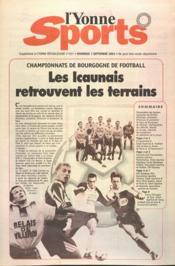 Yonne Sports (L') N°207 du 07/09/2001 - Couverture - Format classique