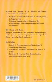 La Recherche Du Bonheur Prepas Scientifiques 2005 2007 Seneque Tchekhov Le Clezio - 4ème de couverture - Format classique