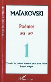 Poèmes t.1 ; 1913-1917 - Couverture - Format classique
