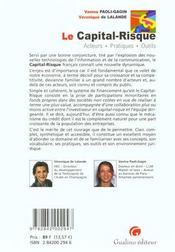 Capital Risque - 4ème de couverture - Format classique