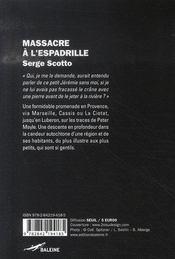 Massacre à l'espadrille - 4ème de couverture - Format classique