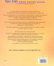 Tai Chi Pour Rester Jeune - 4ème de couverture - Format classique