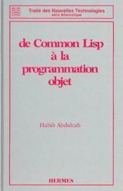 De common lisp a la programmation objet - Couverture - Format classique