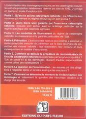 L'Assurance Des Catastrophes Naturelles. Tempetes, Inondations, Grele...Mode D'E - 4ème de couverture - Format classique