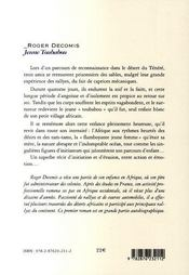 Jeune toubabou - 4ème de couverture - Format classique