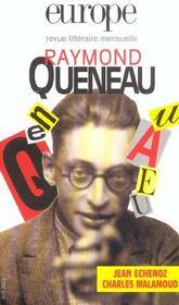 Europe Raymond Queneau 888 Avril 2003 - Intérieur - Format classique