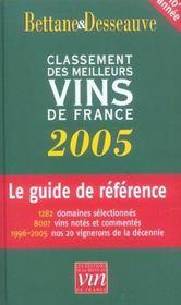Bettane et desseauve ; classement des meilleurs vins de france - Intérieur - Format classique