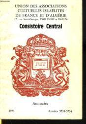Consistoire Central. Annuaire 1973 - Couverture - Format classique