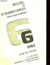 Recueil De 57 Examens Complets Avec Leurs Corriges - Couverture - Format classique
