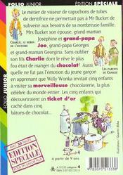 Charlie Et La Chocolaterie - 4ème de couverture - Format classique