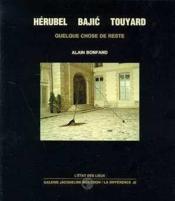 Herubel, Bajic, Touyard - Couverture - Format classique