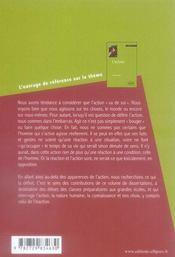 Dissertations sur l'action - 4ème de couverture - Format classique