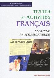 Textes Et Activites-Francais 2 Prof. - Intérieur - Format classique