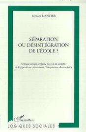 Separation Ou Desintegration De L'Ecole - Intérieur - Format classique